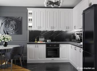 Холодные тона на кухне: изыскано и модно